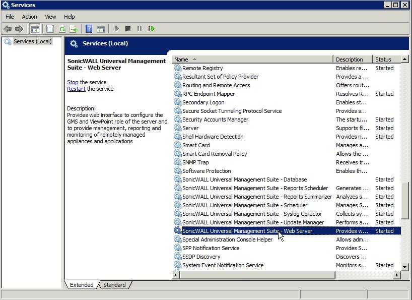Sonicwall Web Server