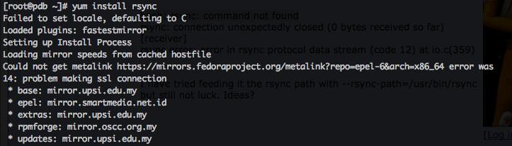 install rsync